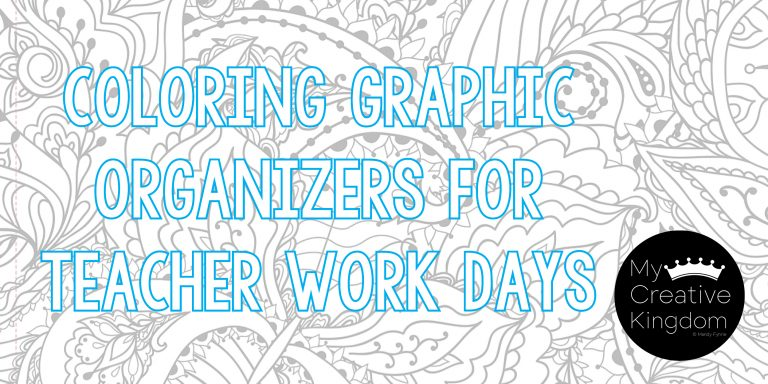 Coloring Graphic Organizer for note taking at Teacher Work Days